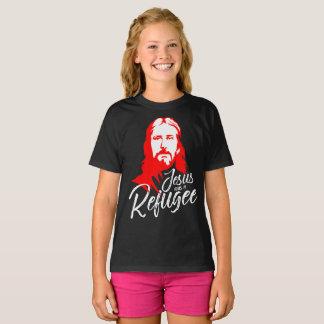 Camiseta O t-shirt escuro da menina de Jesus