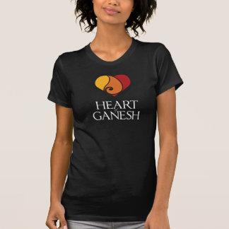 Camiseta O t-shirt escuro das mulheres