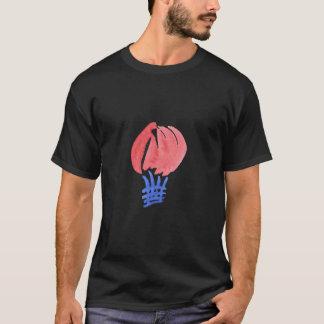 Camiseta O t-shirt escuro dos homens do balão de ar