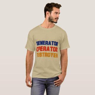 Camiseta O t-shirt escuro dos homens do contratorpedeiro do