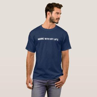 Camiseta O t-shirt escuro dos homens - música com minha