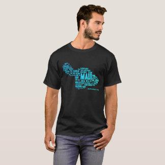 Camiseta O t-shirt escuro dos homens (nuvem da palavra)