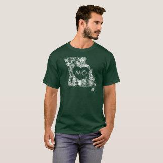 Camiseta O t-shirt escuro dos homens usados do estado de