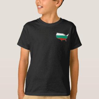 Camiseta O t-shirt escuro dos miúdos: Búlgaro nos EUA