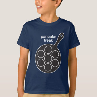 Camiseta O t-shirt escuro dos miúdos do anormal da panqueca