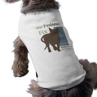 Camiseta O t-shirt felino do gato/cão do reparo