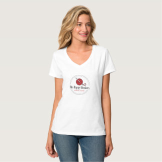 Camiseta O t-shirt feliz do logotipo do Crochet de H