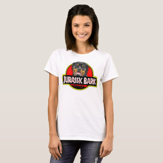 Camiseta O t-shirt jurássico das mulheres do latido de