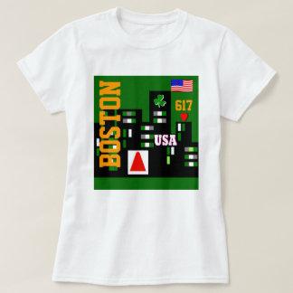 Camiseta O t-shirt legal das mulheres de Boston ostenta o
