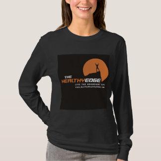Camiseta O t-shirt longo da luva da borda saudável