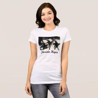 Camiseta O t-shirt longo das mulheres da foto da palmeira