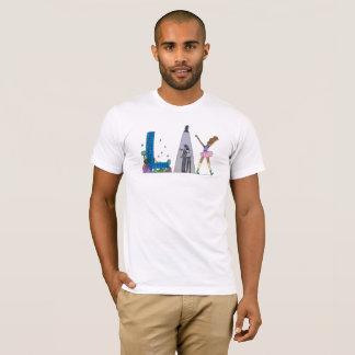 Camiseta O t-shirt | LOS ANGELES dos homens, CA (RELAXADO)