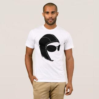Camiseta O t-shirt macio básico dos homens do aviador