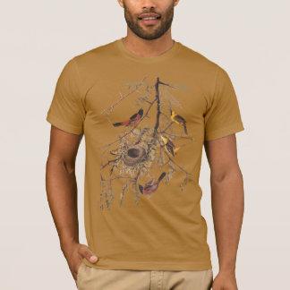 Camiseta O t-shirt orgânico dos homens de Oriole de pomar