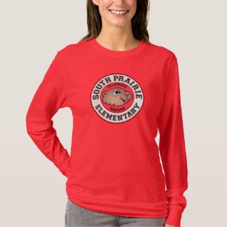 Camiseta O t-shirt pradaria sul das mulheres Longo-Sleeved
