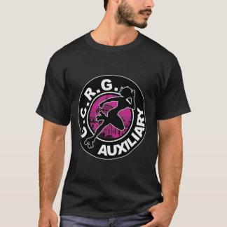 Camiseta O t-shirt preto auxiliar dos homens de CCRG