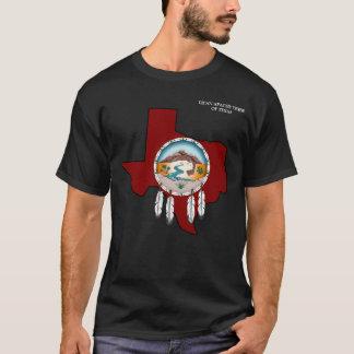 Camiseta O t-shirt preto básico dos homens de Texas do