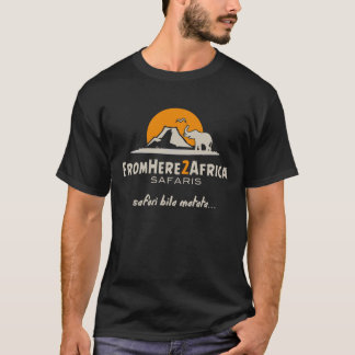 Camiseta O t-shirt preto dos homens