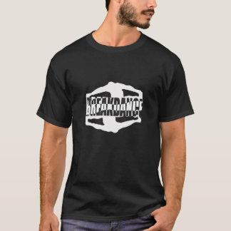 Camiseta O t-shirt preto dos homens da dança de ruptura