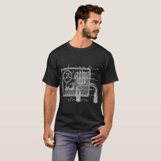 Camiseta O t-shirt preto dos homens das citações de uma
