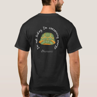 Camiseta O t-shirt preto dos homens de conservação da
