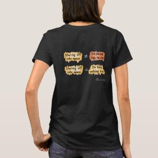 Camiseta O t-shirt preto ocupado de mulheres de