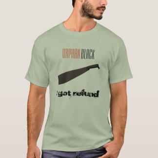 Camiseta O t-shirt preto órfão dos homens do reembolso de