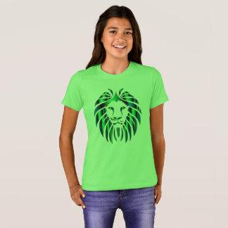 Camiseta O t-shirt prismático da menina colorida da cabeça