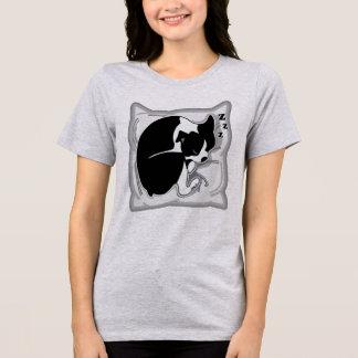 Camiseta O t-shirt relaxado das mulheres sonolentos de