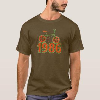 Camiseta O t-shirt retro de 1986 homens da bicicleta de BMX