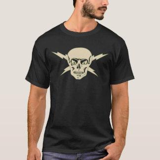 Camiseta O t-shirt retro do crânio elétrico