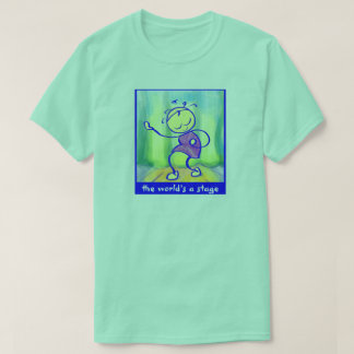 Camiseta O t-shirt SASSY o mundo é um algodão 100% do palco