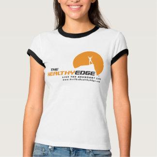 Camiseta O t-shirt saudável da campainha da borda