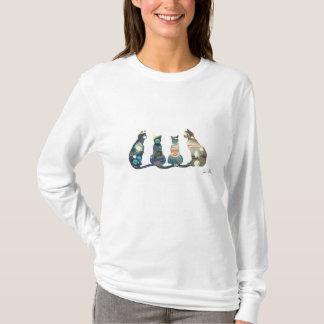 Camiseta O t-shirt sleeved longo das mulheres