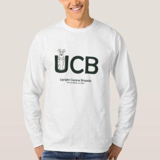 Camiseta O t-shirt Sleeved longo dos homens caninos eretos