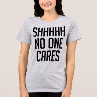 Camiseta O t-shirt Sshh de Tumblr ninguém importa-se