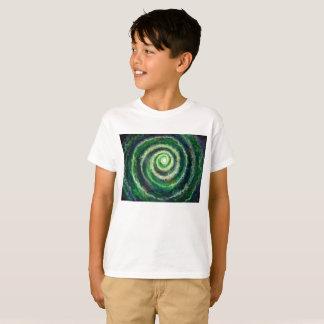 Camiseta O t-shirt tagless do miúdo da galáxia espiral