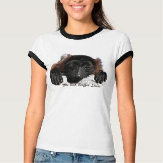 Camiseta O t-shirt vermelho do Lemur de Ruffed