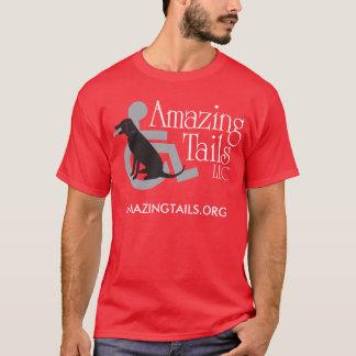 Camiseta O t-shirt vermelho dos homens com logotipo na