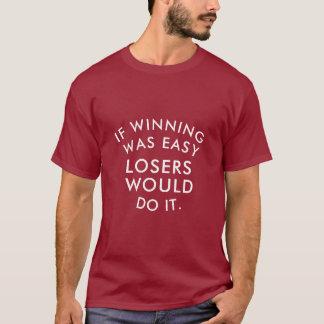 Camiseta O T-shrits impressionante vermelho dos homens