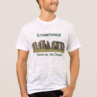 Camiseta O T-Stonehenge das mulheres, casa dos Druids