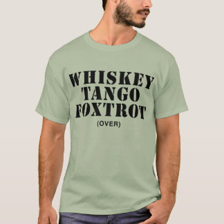 Camiseta O tango do uísque Foxtrot (sobre)