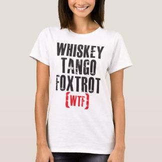 Camiseta O tango do uísque Foxtrot - WTF - preto