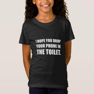 Camiseta O telefone cai no toalete