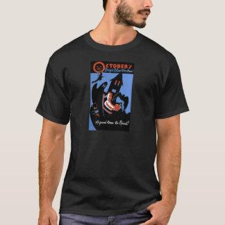Camiseta O tempo azul brilhante de outubro