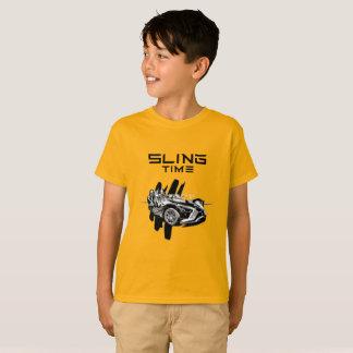 Camiseta O tempo do estilingue caçoa o Tshirt