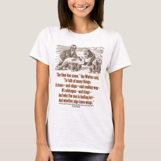 Camiseta O tempo do país das maravilhas veio através do
