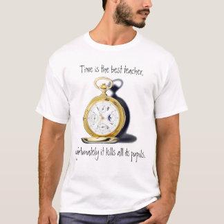 Camiseta O tempo é o melhor relógio de bolso do professor