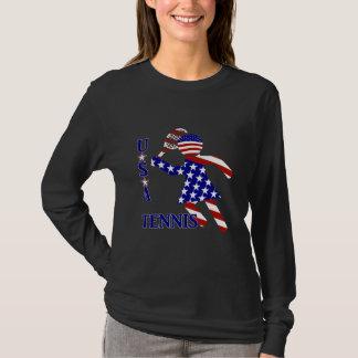 Camiseta O tênis das mulheres dos EUA