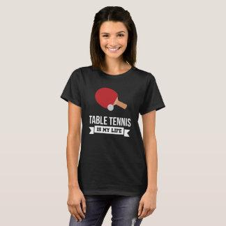 Camiseta O ténis de mesa é meu t-shirt do fã de esportes